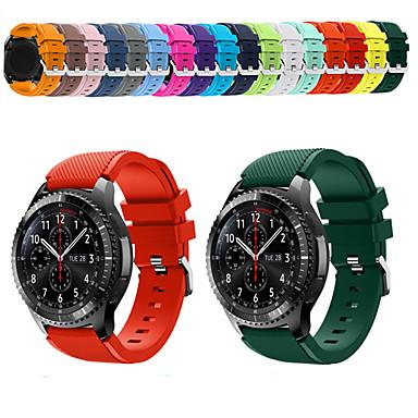 abordables Bracelets pour Samsung-Bracelet de Montre  pour Gear S3 Frontier / Gear S3 Classic Samsung Galaxy Bracelet Sport Silikon Sangle de Poignet