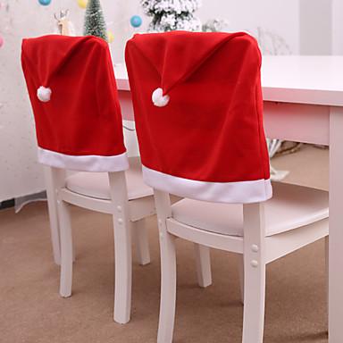 olcso Lakberendezés-dekoratív karácsonyi kalap stílusú szék hátsó üléshuzat