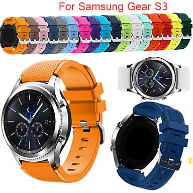 Недорогие Часы для Samsung-gear s3 пограничный ремешок для samsung galaxy watch 20 22-миллиметровый ремешок для часов correa huawei watch gt active strap gear sport band
