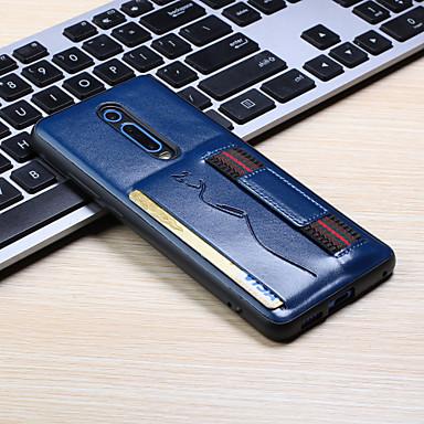 Недорогие Чехлы и кейсы для Xiaomi-Кейс для Назначение Xiaomi Xiaomi Redmi 7 / Redmi Note 7 / Redmi K20 Бумажник для карт Кейс на заднюю панель Однотонный Кожа PU
