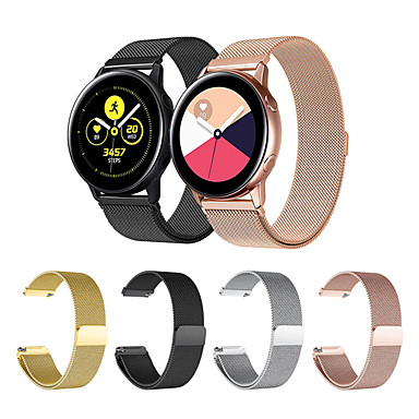 Недорогие Часы для Samsung-Ремешок для часов для Gear Sport / Gear S2 / Samsung Galaxy Watch 42 Samsung Galaxy Спортивный ремешок / Миланский ремешок Нержавеющая сталь Повязка на запястье