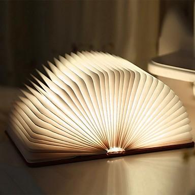 1PC كتاب الجدول مصباح الليل المدمج في بطارية ليثيوم بالطاقة قابل للطي / قابلة لإعادة الشحن / مغناطيس