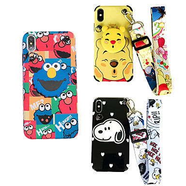 cheap New Arrivals-Case For Apple iPhone XS / iPhone XR / iPhone XS Max Shockproof / with Stand Back Cover Cartoon Soft TPU