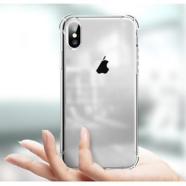 voordelige iPhone 5 hoesjes-hoesje Voor Apple iPhone XS / iPhone XR / iPhone XS Max Schokbestendig / Transparant Achterkant Transparant Zacht TPU