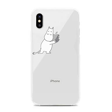 Недорогие Кейсы для iPhone 6 Plus-Кейс для Назначение Apple iPhone XS / iPhone XR / iPhone XS Max Защита от удара / Защита от пыли / Прозрачный Кейс на заднюю панель Прозрачный / Мультипликация ТПУ