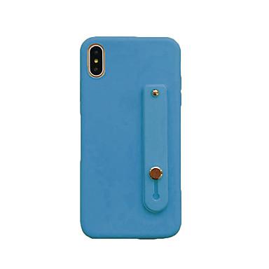 voordelige iPhone 6 Plus hoesjes-hoesje Voor Apple iPhone XS / iPhone XR / iPhone XS Max Stofbestendig / Armband Achterkant Effen TPU