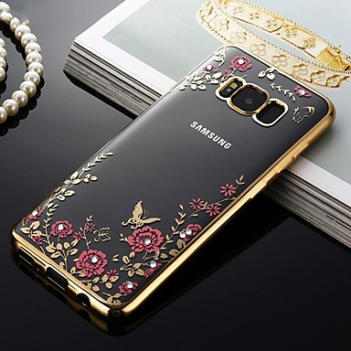 رخيصةأون حافظات / جرابات هواتف جالكسي S-غطاء من أجل Samsung Galaxy S9 / S9 Plus / S8 Plus ضد الصدمات / ضد الغبار / نموذج غطاء خلفي زهور ناعم TPU