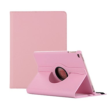 رخيصةأون أغطية أيباد-غطاء من أجل Apple iPad Air / iPad 4/3/2 / iPad Mini 3/2/1 دوران360ْ / ضد الغبار غطاء كامل للجسم لون سادة قاسي جلد PU / iPad Pro 10.5 / iPad (2017)