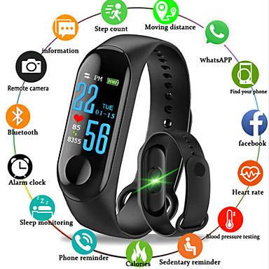 M3 الذكية معصمه شاشة كبيرة تعمل باللمس رسالة oled معدل ضربات القلب وقت اللياقة سوار smartband ووتش لالروبوت ios سوار ساعة