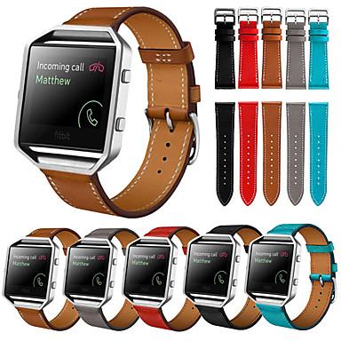Недорогие Аксессуары для смарт-часов-Ремешок для часов для Fitbit Blaze Fitbit Спортивный ремешок / Кожаный ремешок Натуральная кожа Повязка на запястье