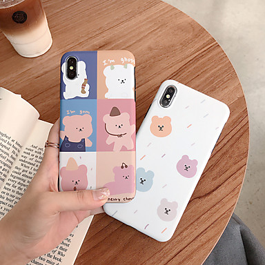 voordelige iPhone 7 hoesjes-hoesje Voor Apple iPhone XS / iPhone XR / iPhone XS Max IMD / Patroon Achterkant dier / Cartoon TPU