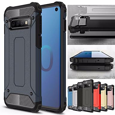 voordelige Galaxy S-serie hoesjes / covers-Schokbestendig telefoonhoesje voor Samsung Galaxy s10 plus s10e s10 5g s10 rubber pantser hybride pc hard cover voor s9 plus s9 s8 plus s8 s7 rand s7 tpu case