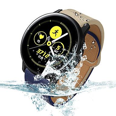 voordelige Horlogebandjes voor Samsung-Horlogeband voor Samsung Galaxy Watch 46 / Samsung Galaxy Watch 42 Samsung Galaxy Moderne gesp Echt leer Polsband