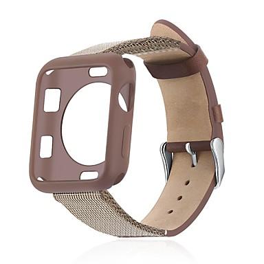 voordelige Apple Watch Cases met band-koffer met band voor apple watch serie 4/3/2/1 stof / siliconen / lederen compatibiliteit apple