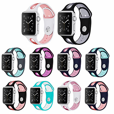 abordables Correas para Apple Watch-Watch Band For Apple Watch Band 42mm 38mm 44mm 40mm Strap Silicone Iwatch Bands For Apple Watch Series 5/4/3/2/1