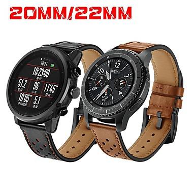 Недорогие Часы для Samsung-Ремешок для часов для Gear S3 Frontier / Gear S3 Classic / Gear S2 Classic Samsung Galaxy / Huawei / Motorola Классическая застежка Натуральная кожа Повязка на запястье