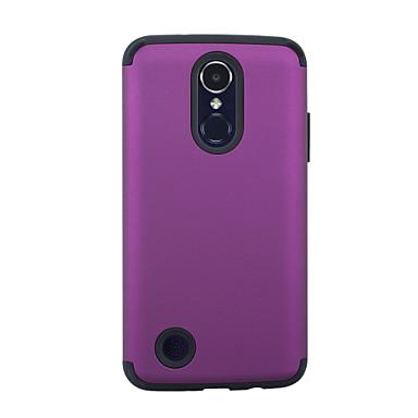 Θήκη Za LG LG K10 (2017) / LG K8 (2017) Otporno na trešnju Stražnja maska Jednobojni PC / silika gel