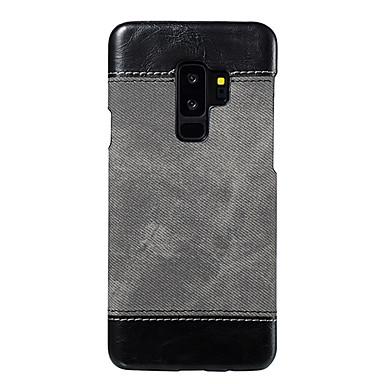 Недорогие Чехлы и кейсы для Galaxy S-Кейс для Назначение SSamsung Galaxy S9 / S9 Plus / S8 Plus Ультратонкий Кейс на заднюю панель Однотонный Кожа PU / ПК
