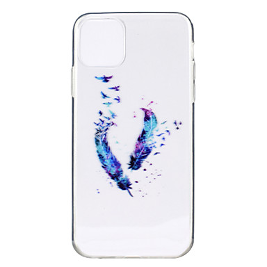 voordelige iPhone-hoesjes-hoesje voor apple iphone 11 / iphone 11 pro / iphone 11 pro max ultradun / transparant / patroon achterkant veren tpu zacht