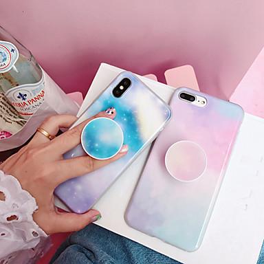 povoljno Maske za mobitele-Θήκη Za Apple iPhone XS / iPhone XR / iPhone XS Max sa stalkom / IMD / Uzorak Stražnja maska Crtani film / Prijelaz boje PC