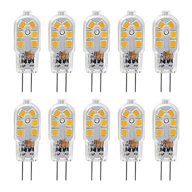 povoljno LED žarulje-zdm g4 2,5w led žarulja 10 paketa bi-pin g4 baza 20w zamjenska halogenska žarulja topla bijela / hladno bijela dc12v
