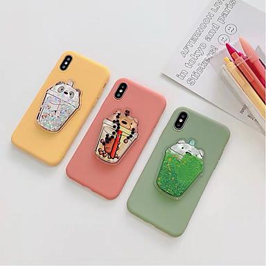 voordelige iPhone-hoesjes-hoesje voor Apple iPhone XS Max / iPhone 8 plus stofdicht / vloeiende vloeistof achterkant effen / cartoon silicagel voor iPhone 7/7 plus / 8/6/6 plus / xr / x / xs