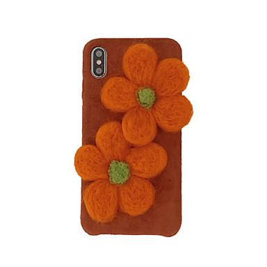 Недорогие Кейсы для iPhone 7 Plus-чехол для яблока iphone xs / iphone xr / iphone xs max рисунок задняя крышка мультфильм / цветок текстиль