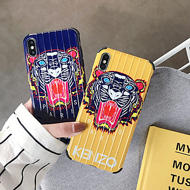 voordelige iPhone 7 hoesjes-hoesje Voor Apple iPhone XS / iPhone XR / iPhone XS Max Schokbestendig / Stofbestendig / IMD Achterkant Woord / tekst / dier / Cartoon PC