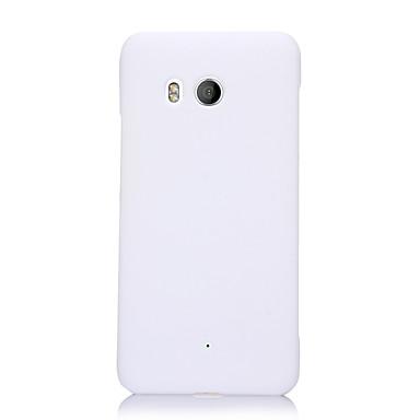 Недорогие Чехлы и кейсы для HTC-Кейс для Назначение HTC HTC U11 plus / HTC U11 Eyes Ультратонкий Кейс на заднюю панель Однотонный ТПУ