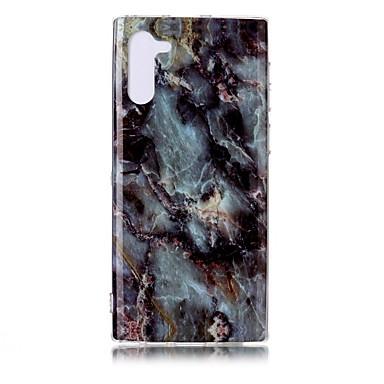 Недорогие Чехлы и кейсы для Galaxy Note-Кейс для Назначение SSamsung Galaxy Note 9 / Note 8 / Galaxy Note 10 Ультратонкий / С узором Кейс на заднюю панель Мрамор ТПУ