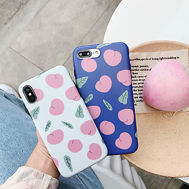 voordelige iPhone X hoesjes-hoesje Voor Apple iPhone XS / iPhone XR / iPhone XS Max IMD / Ultradun / Patroon Achterkant Voedsel / Cartoon TPU