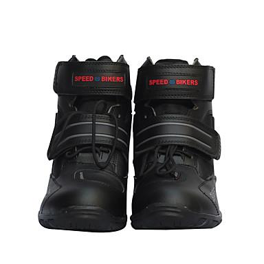 voordelige Beschermende uitrusting-zachte motorlaarzen biker waterdichte snelheid motorboten mannen motorcross laarzen antislip motorschoenen schoen ons maat9.5
