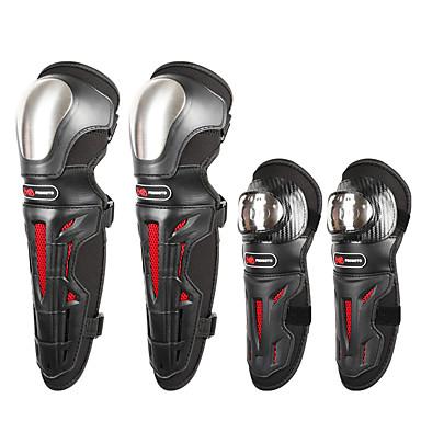 Недорогие Средства индивидуальной защиты-мотоцикл защитное снаряжение для наколенников и налокотников из нержавеющей стали регулируемая броня 4шт