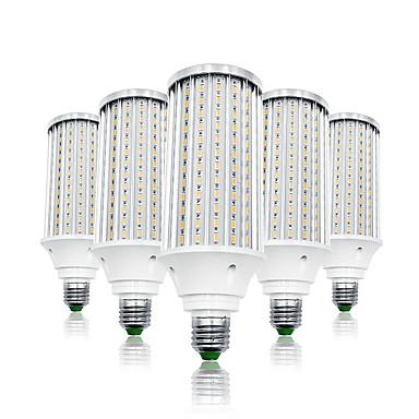 olcso LED izzók-LOENDE 5pcs 80 W LED kukorica izzók 8000 lm E26 / E27 T 216 LED gyöngyök SMD 5730 Meleg fehér Fehér 85-265 V