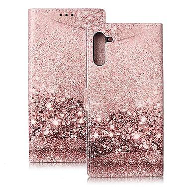 voordelige Galaxy Note-serie hoesjes / covers-hoesje Voor Samsung Galaxy Note 9 / Note 8 / Galaxy Note 10 Portemonnee / Kaarthouder / Schokbestendig Volledig hoesje Marmer PU-nahka