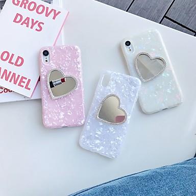 Недорогие Кейсы для iPhone 6 Plus-чехол для яблока iphone xs / iphone xr / iphone xs max зеркало / шаблон задняя крышка сердце тпу для iphone 6 6 плюс 6s 6s плюс 7 8 7 плюс 8 плюс x xs