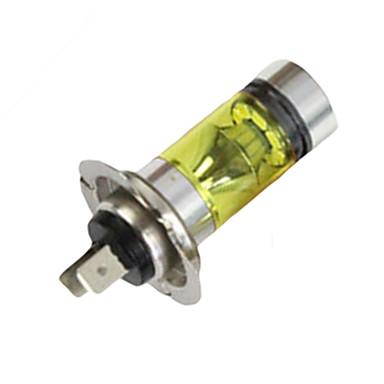 Недорогие Противотуманные фары-h7 100 Вт светодиодные 20-smd противотуманные фары дальнего света вождения автомобиля головные лампы лампочки высокой мощности желтый свет drl лампочки