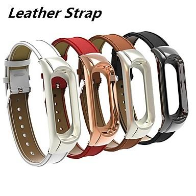 voordelige Smartwatch-accessoires-Horlogeband voor Mi Band 3 Xiaomi Klassieke gesp / Leren lus Gewatteerd PU-leer Polsband