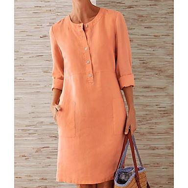 povoljno Mini suknje-Žene Veći konfekcijski brojevi Red žuta Haljina A kroj Jednobojni S M