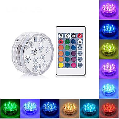 olcso Kültéri lámpa és gyertyatartók-LOENDE 1db 4 W Vízalatti világítás Vízálló RGB 4.5 V / Akkumulátorok 10 LED gyöngyök