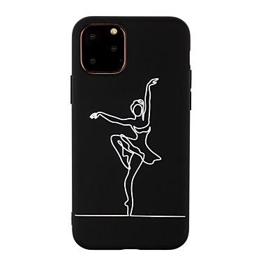 Недорогие Кейсы для iPhone-чехол для apple, iphone 11 / iphone 11 pro / iphone 11 pro max ультратонкий / матовый / рисунок задняя крышка сексуальная леди тпу мягкий