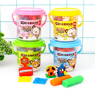 olcso gyurma-12 színes gyurma kézműves játékok (véletlenszerű szín)