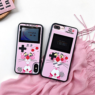 voordelige iPhone 6 Plus hoesjes-hoesje Voor Apple iPhone XS / iPhone XR / iPhone XS Max Patroon / Game zaak Achterkant dier / Cartoon TPU / PC