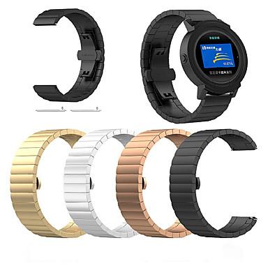 baratos Acessórios para Smartwatch-Pulseiras de Relógio para Vivoactive 3 Garmin Modelo da Bijuteria Aço Inoxidável Tira de Pulso