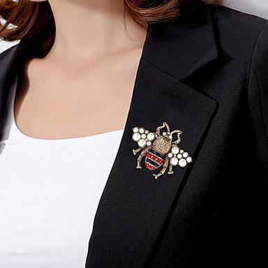 povoljno Broševi-Žene Broševi Tropical Pčela Vintage Šarene Biseri Pozlaćeni Imitacija dijamanta Broš Jewelry White / Red White / Yellow Za Vjenčanje Angažman Dar Rad Obećanje