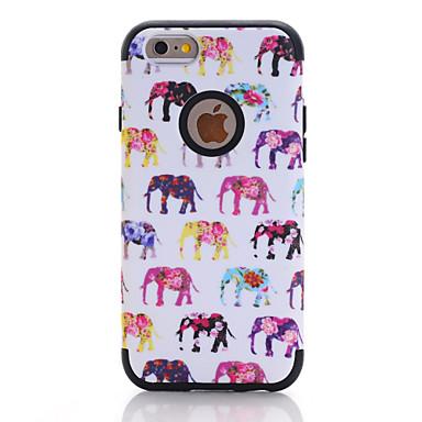 voordelige iPhone-hoesjes-hoesje Voor Apple iPhone 7 / iPhone 6 Schokbestendig Achterkant Houtnerf / dier / Bloem TPU / PC