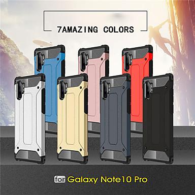 Недорогие Чехлы и кейсы для Galaxy S-Кейс для Назначение SSamsung Galaxy Galaxy S10 / Galaxy S10 Plus / Galaxy S10 E Защита от удара Кейс на заднюю панель броня ПК