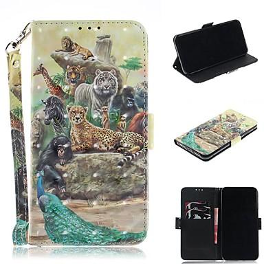 Недорогие Кейсы для iPhone-чехол для apple iphone xs / iphone xr / iphone xs max кошелек / держатель карты / противоударный чехлы для всего тела цирковая искусственная кожа для iphone 8 plus / iphone 7 plus / iphone 6s plus /
