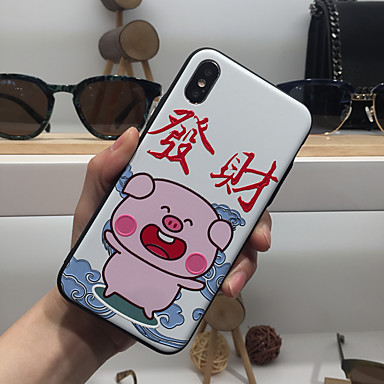voordelige iPhone-hoesjes-hoesje Voor Apple iPhone XS / iPhone XR / iPhone XS Max Ultradun / Mat / Patroon Achterkant Woord / tekst / Cartoon TPU / PC