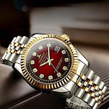 ieftine Ceasuri Bărbați-Bărbați Ceas Elegant Quartz Stil Oficial Stl Casual Rezistent la Apă Analog Alb Negru Albastru piscină / Un an / Oțel inoxidabil / Calendar / Mare Dial
